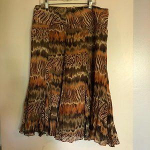 Christopher & Banks Midi Skirt Womens Size 8 Boho